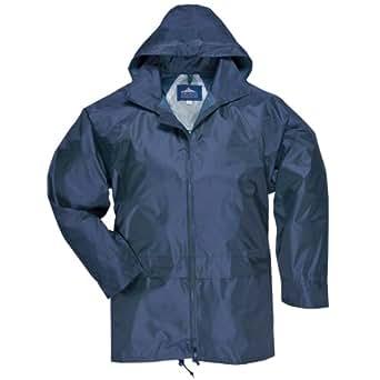 Portwest Men's Classic Rain Jacket (XS, Navy)
