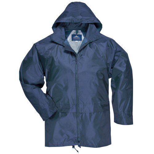 Portwest Classic Rain Jacket, Small to XXL, 3 Colours - Navy - S
