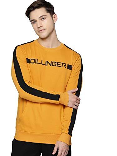 Dillinger Full Sleeve Solid Men Yellow Sweatshirt