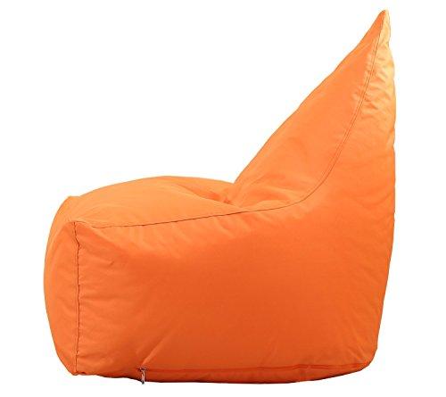 QuWei Bean Bags Chair Triangel Creative Cartoon DIY Comfortable Mini Sofa Indoor/Outdoor Soft Floor Cushion Lazy Sofa (orange)