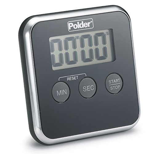 (Polder TMR-606-95 Digital Kitchen Timer with Magnet and Stand,)