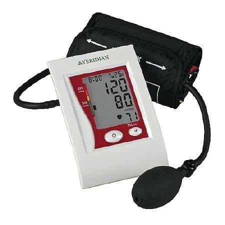 Veridian Healthcare Semi-Automatic Digital Blood Pressure Arm Monitor - Adult - 3PC