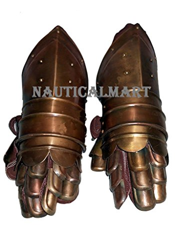 MEDIEVAL KNIGHT ARMOR GAUNTLETS HALLOWEEN PARTY COSTUME BY NAUTICALMART by NAUTICALMART