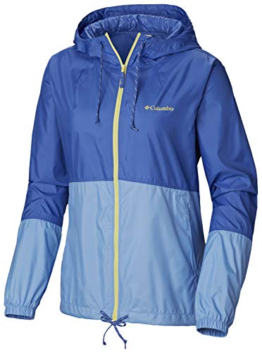 Columbia Women's Plus Size Flash Forward Windbreaker, Arctic Blue/White Cap, ()