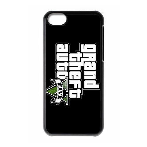 H8N55 GTA V cas de téléphone D4Q9JF coque iPhone 5c cellulaire couvercle coque noire IF5BAH2CV