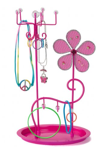 Three Cheers Flower Jewelry Holder (Kid Jewelry Organizer compare prices)