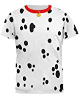 Dog Dalmatian Costume Red Collar All Over Adult T-Shirt