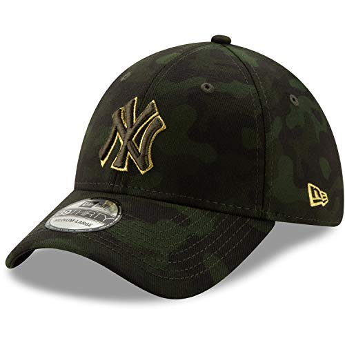 New Era 2019 MLB New York Yankees Hat Cap Armed Forces Day 39Thirty 3930 (S/M) Green/Gold
