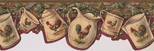 Border Rooster Red (Wallpaper Border - Rooster Wallpaper Border 7004 BSB)