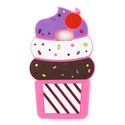 Galaxy Note 5 Case, 3D Cartoon Cute Cherry Cupcakes Ice Cream Shaped Soft Silicone Case Bumper Back Cover for Samsung Galaxy Note 5 V SM-N920 (2015 Release) (5.7