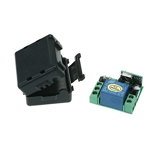 Walmeck Universal 433Mhz Wireless RF Switch 1CH DC 12V Relay Receiver Module for 1527 Learning Code Transmitter Remote