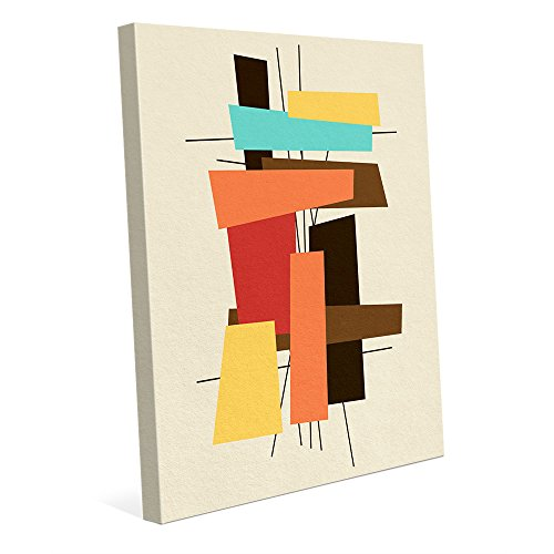 Brick a Brack Red: Postmodern Mid-century Geometric Graphic Abstract Wall Art Print 413PxY4pyeL