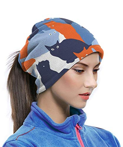 Belongtu Écharpe Seamless Pattern with Cats in Military Style Headband Face Cover Bandana Head Wrap Scarf Neck Warmer… 3
