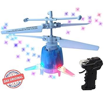 mindscope RC UFO Helicóptero - Micro dron Azul.con luces LED Disco ...