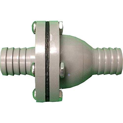 74 Style Flapper Check Valve with 1-1/8 in Barbed Ends ()