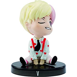 BTS 3-in v Vinyl Doll and Base, Based on Bangtan Boys Global Boy Band, Highly Portable Figure, Toy for Boys and Girls Age 6 and Up.