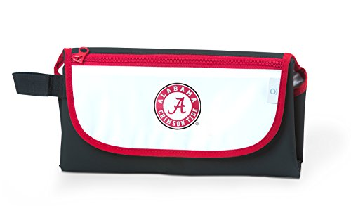 Black Ncaa Cover - Cozy Cover NCAA Alabama Crimson Tide Unisex On-The-Go Diaper Changing Pad, Black, One Size