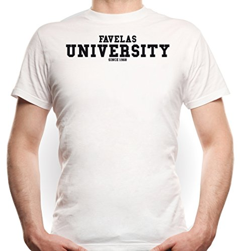 Favelas University T-Shirt White Certified Freak