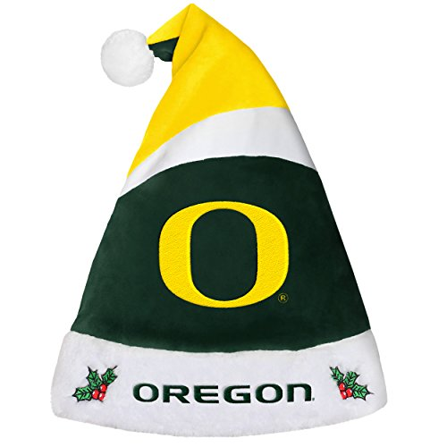 Oregon Ducks Santa - Oregon Ducks Basic Santa Hat - 2016