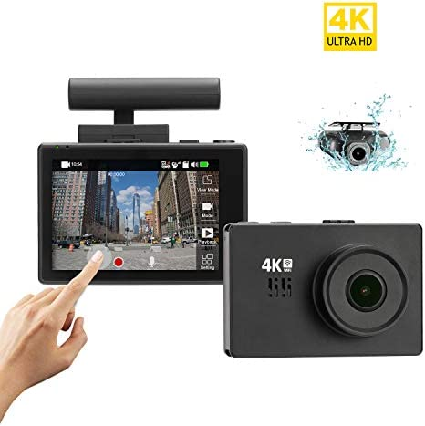 Lifechaser Dual Dash Cam 4K Front and Rear Car Camera 1080P 1080P, 3 OLED Touch Screen WiFi GPS Night Mode 150 , Parking Mode, Time Lapse, WDR, G-Sensor, Loop Recording for Cars, Trucks