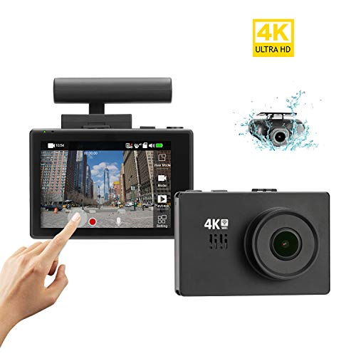 Lifechaser Dual Dash Cam 4K Front and Rear Car Camera 1080P+1080P, 3