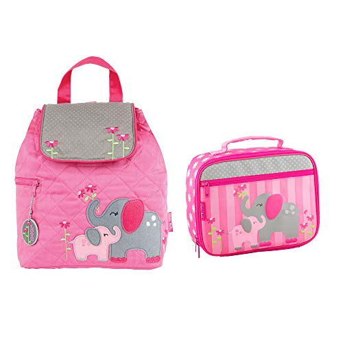 (Stephen Joseph Girls Quilted Elephant Backpack and Lunch Box for Kids)