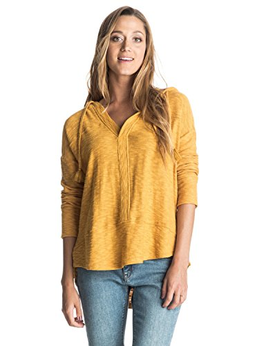 Roxy Womens Roxy Good Vibrations - Hooded Long Sleeve Top - Women - S Honey Mustard S