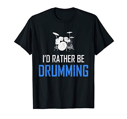 - Drumming Tshirt Funny Percussion Drums Musician Drummer Gift