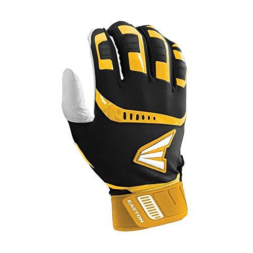 - Easton Walk-Off Batting Glove, Adult, Medium, Black/Gold