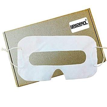 [Paquete de 100] Orzero VR Desechable Máscara Sanitaria de Ojos Blancos para Cascos de