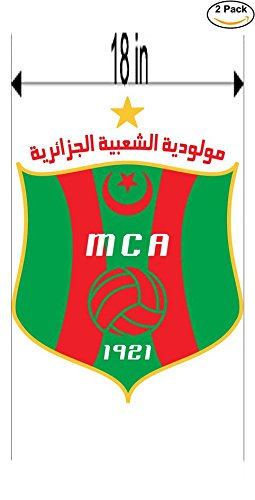 fan products of Mouloudia Club d Alger Algeria Soccer Football Club FC 2 Stickers Car Bumper Window Sticker Decal Huge 18 inches