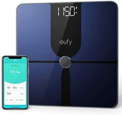 Amazon Com Eufy By Anker Smart Scale P1 With Bluetooth Body Fat Scale Wireless Digital Bathroom Scale 14 Measurements Weight Body Fat Bmi Fitness Body Composition Analysis Black White Lbs Kg Health Personal Care