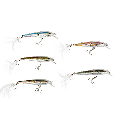 Fishing Lures Sinking Crankbait Minnow Bass Multi Jointed Bait Popper Pencil Hook Tackle