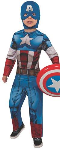 [Marvel Universe Avengers Assemble Captain America Costume, Small] (Disney Dress Up For Boys)