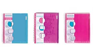 Carolina Pad Notebound Colors 5-Subject Notebooks, 11 x 8.5 Inches, 160 Sheets Each, 6-Count, Colors May Vary (91068)
