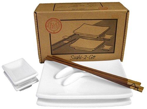 BIA Cordon Bleu 10-Piece Sushi-2-Go Gift Box Set, White