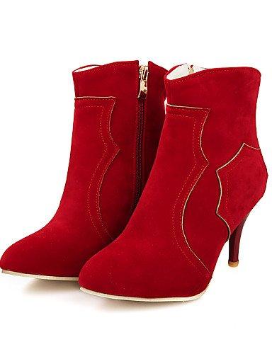 Puntiagudos Exterior La Botas Oficina Zapatos Mujer Stiletto Cn38 Eu38 A Trabajo Uk5 5 Y Uk5 Uk4 Tacón us6 us7 Black Xzz 5 Eu36 Anfibias Casual Red Cn36 Moda De qwXPzzc0