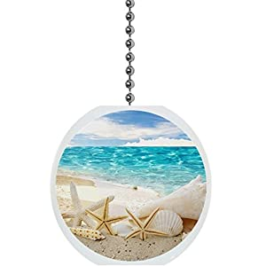 413Q0KVWeyL._SS300_ 75+ Coastal & Beach Ceiling Fan Pull Chain Ornaments For 2020