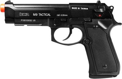 KWA Full Metal M9 Tactical PTP Airsoft Pistol Gas Blowback