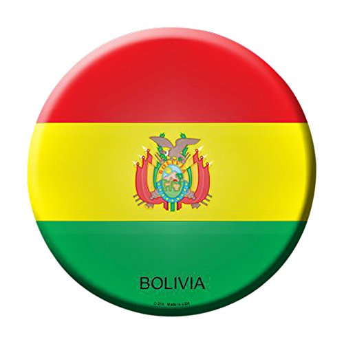 Smart Blonde Bolivia Country Novelty Metal Circular Parking Sign C-210