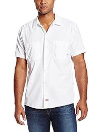Dickies Workwear ls535wh ocupacional para hombre manga corta camisa de trabajo industrial