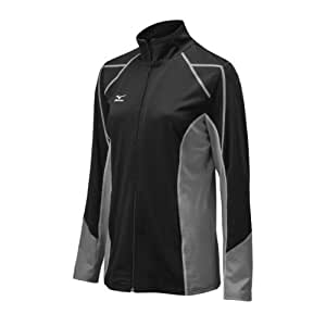 Mizuno Women's Full Zip G3 Jacket, Black/Grey, X-Small