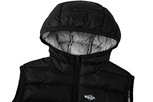 Hooded Lightweight Boy's Vest Down Wantdo Puffer Packable Sleeveless Jacket Black wECUnqg