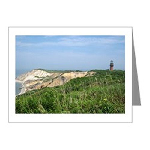 CafePress - Martha's Vineyard Lighthouse Note Cards (Pk of 10) - Blank Note Cards (Pk of 10) Glossy