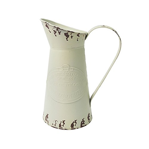 Watering Honey Elegant French Style Country Primitive Pitcher Flower Vase Watering Can Planters for Wedding Home Bar ()
