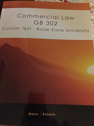 Commercial Law GB 302 Custom Text - Boise State University