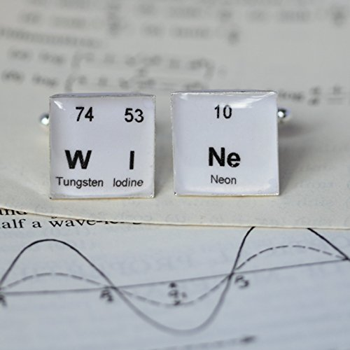 Periodic Table Wine Cufflinks by Sophie Hutchinson Designs