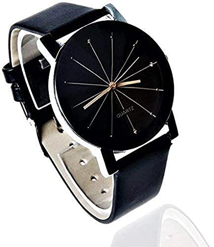 Analogue Prizam Glass Black Dial Girl's Watch