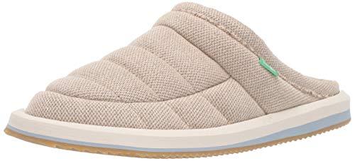Sanuk Women's Puff N Chill Low Hemp Shoe, Natural, 9 M US