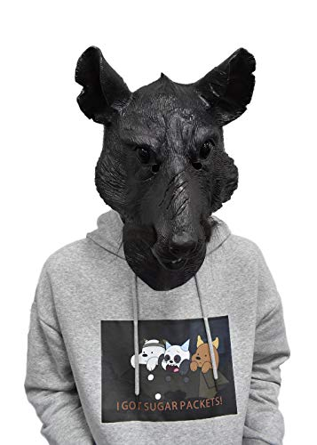 Master Splinter Mask Rat Mask Mouse Movie Role Halloween Costume Disguise for Adult Black